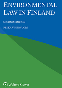 Kansikuva kirjasta Environmental law in Finland.
